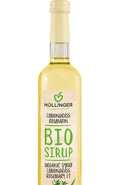 Glas 500ml Lemongrass Rosmarin Sirup